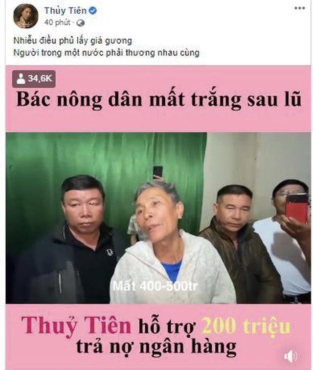 Tranh cãi số tiền 200 triệu được Thuỷ Tiên cho ông cụ trả nợ ngân hàng - Ảnh 2.
