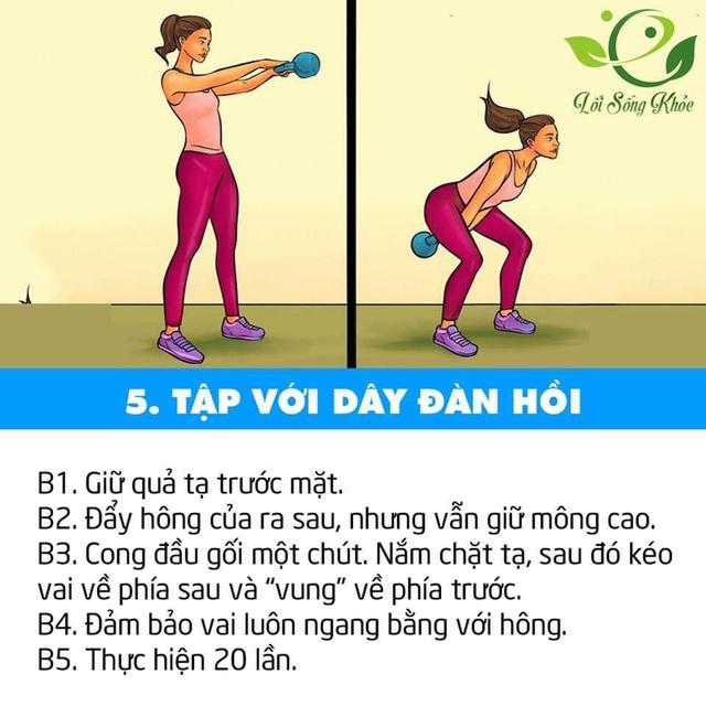 7 bài tập giúp săn chắc và tăng cường sức mạnh cho vùng dưới hông, nàng công sở nên áp dụng ngay và luôn để tránh bị đau lưng - Ảnh 6.