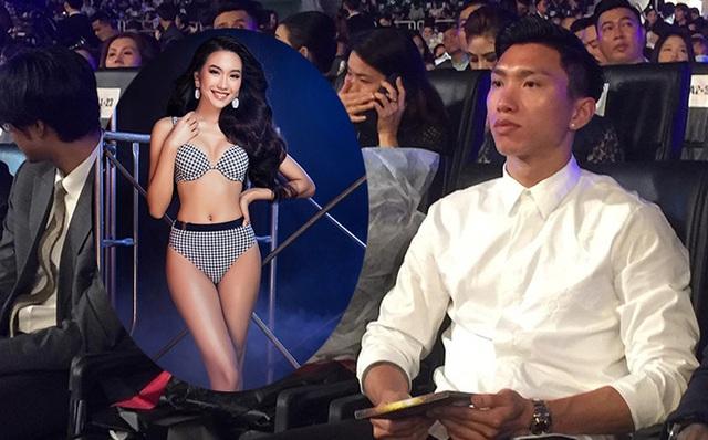 Đoàn Văn Hậu cổ vũ bạn gái tin đồn tại đêm chung kết Hoa hậu Việt Nam 2020? - Ảnh 2.