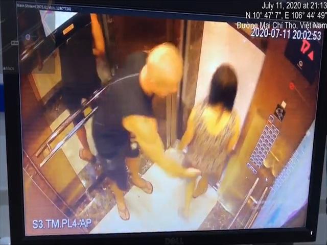 Người phụ nữ bị vỗ mông trong thang máy ở TP.HCM - Ảnh 1.