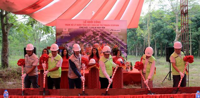 Ecopark: Khởi công nhà máy nước thải thứ 4 tại khu đô thị - Ảnh 1.