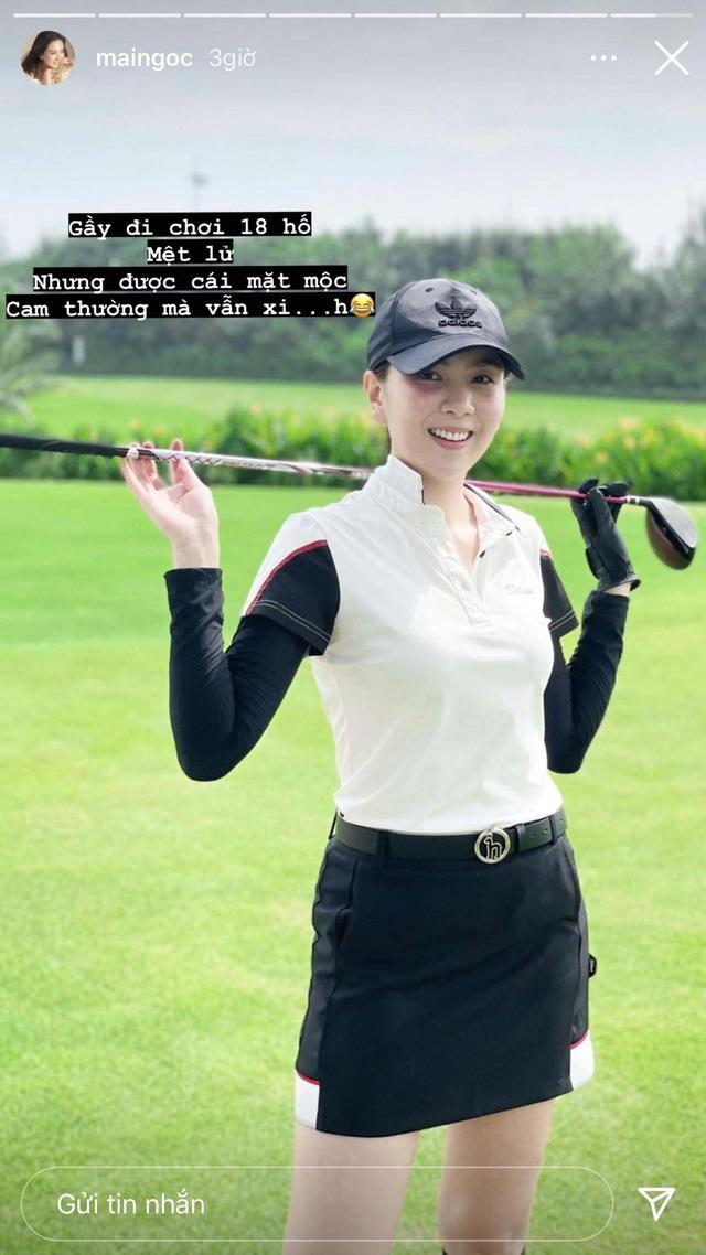 Ra sân đánh golf đâu chỉ giữ dáng, Mai Ngọc tranh thủ nâng cơ mặt với món làm đẹp độc - Ảnh 3.