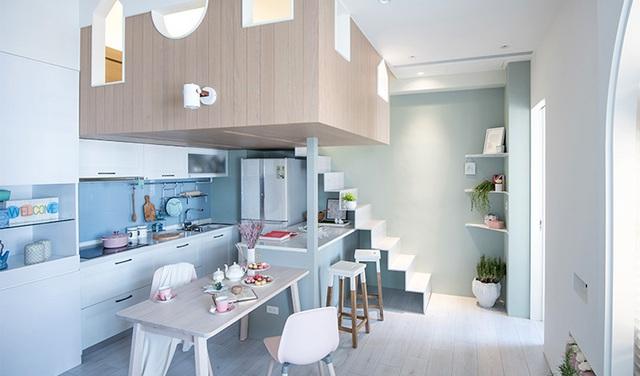 Bí mật đắt giá giúp gia đình 3 thành viên sống thoải mái, tiện nghi trong căn hộ 15m² - Ảnh 1.