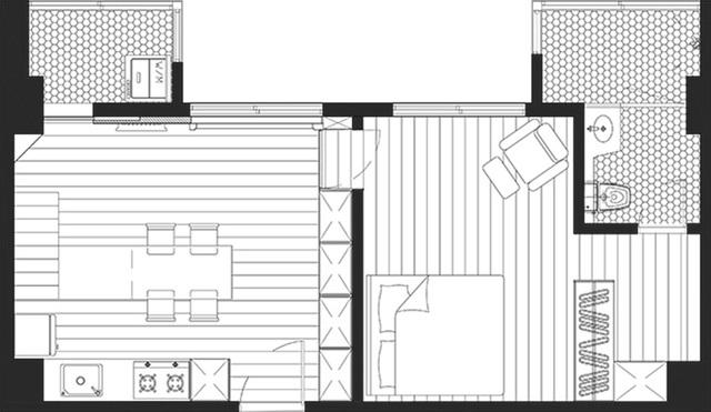 Bí mật đắt giá giúp gia đình 3 thành viên sống thoải mái, tiện nghi trong căn hộ 15m² - Ảnh 2.