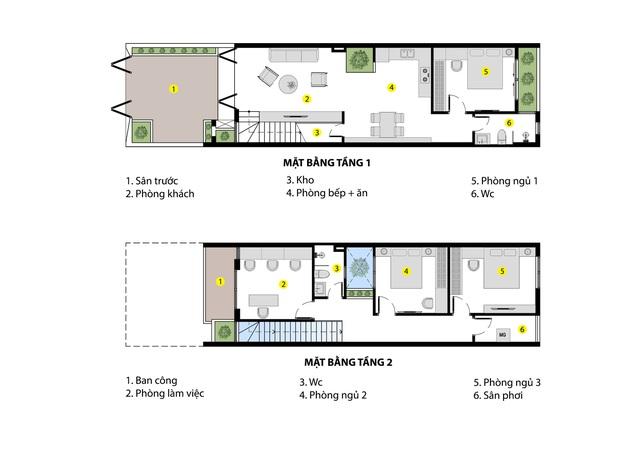 Nhà phố 2 tầng được thiết kế ấn tượng với khoảng thông tầng nhiều ánh sáng ở Đà Nẵng - Ảnh 3.