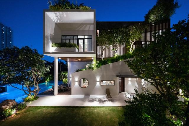 Ngôi nhà hình ruộng bậc thang phủ đầy cây xanh - Ảnh 14.