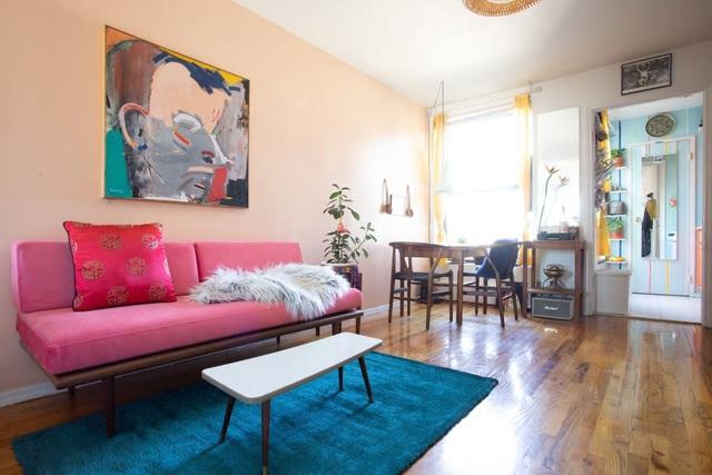 Căn hộ 37m² sử dụng những màu sắc đáng kinh ngạc trong trang trí nội thất - Ảnh 3.
