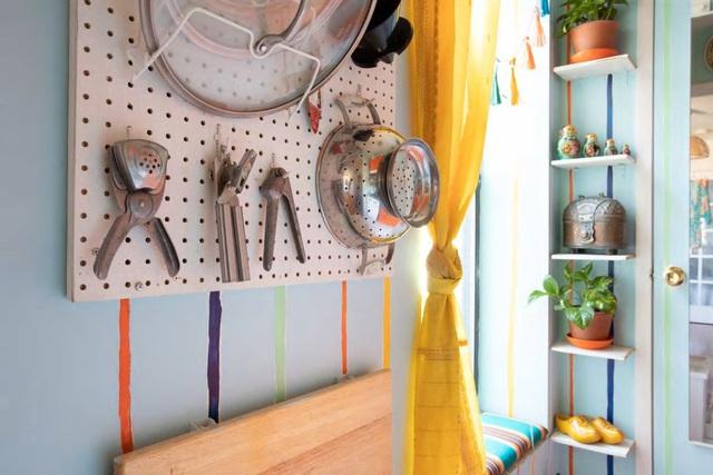 Căn hộ 37m² sử dụng những màu sắc đáng kinh ngạc trong trang trí nội thất - Ảnh 7.