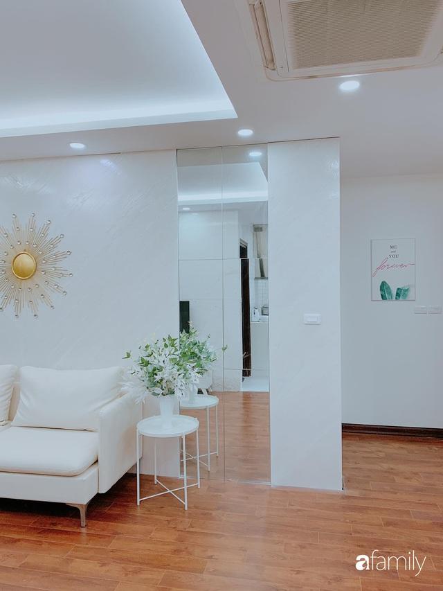 Căn hộ 90m² như được nhân đôi không gian nhờ cách decor khéo léo với sắc trắng ở Hà Nội - Ảnh 6.