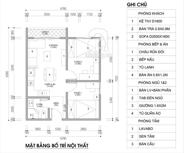 Tư vấn thiết kế căn hộ chung cư có diện tích 45m² với chi phí 128 triệu đồng - Ảnh 2.