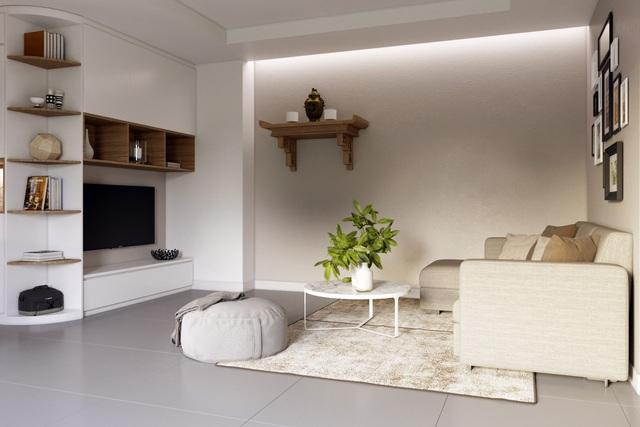 Tư vấn thiết kế căn hộ chung cư có diện tích 45m² với chi phí 128 triệu đồng - Ảnh 7.