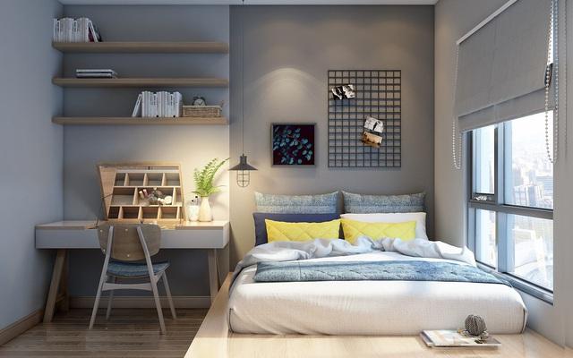 Tư vấn thiết kế căn hộ chung cư có diện tích 45m² với chi phí 128 triệu đồng - Ảnh 10.