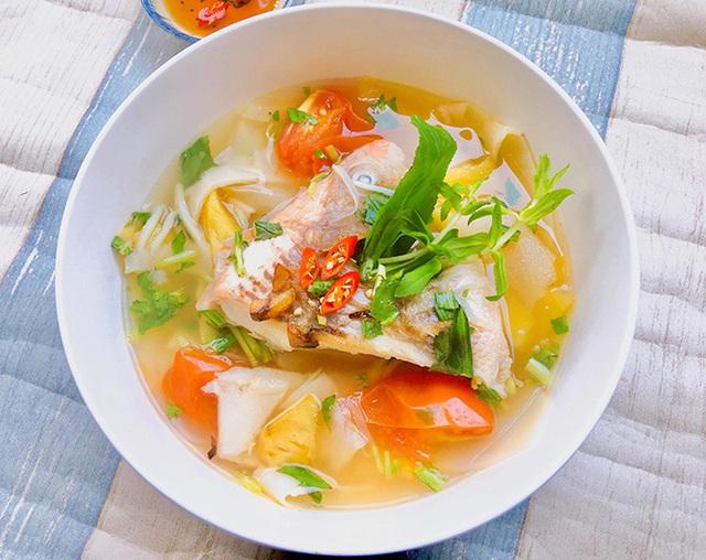 Canh cá điêu hồng nấu măng chua - Ảnh 1.