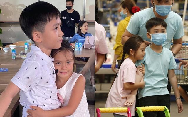 Con trai Thu Trang - Tiến Luật nhắc tên con gái Đoan Trang, lại còn e thẹn cực đáng yêu  - Ảnh 4.