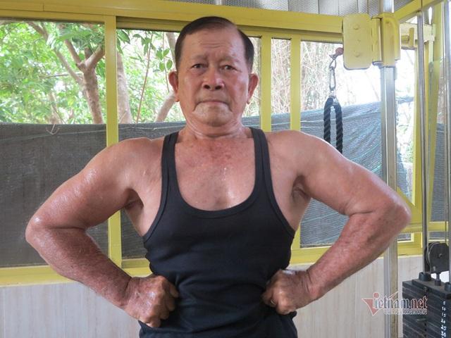 Cụ ông An Giang 84 tuổi cơ bắp cuồn cuộn, ngày tập gym 2 tiếng - Ảnh 3.