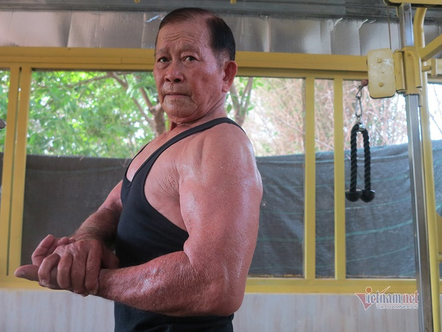 Cụ ông An Giang 84 tuổi cơ bắp cuồn cuộn, ngày tập gym 2 tiếng - Ảnh 5.