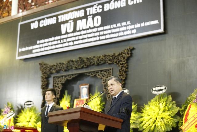 Lễ tang nguyên Chủ nhiệm Văn phòng Quốc hội Vũ Mão - Ảnh 10.