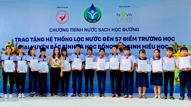 """Tập đoàn Novaland - lan tỏa niềm vui """"nước sạch học đường"""" đến huyện Bắc Bình, tỉnh Bình Thuận - Ảnh 3."""