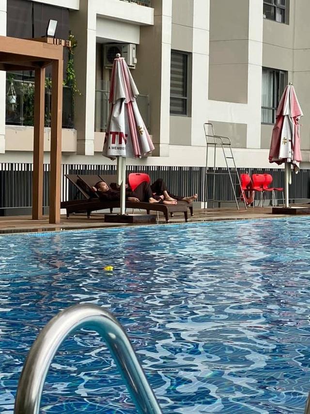 Xôn xao hình ảnh các sư thầy Tịnh Thất Bồng Lai đi resort tránh nắng, khoe body 6 múi ở hồ bơi sau ồn ào bị điều tra - Ảnh 5.