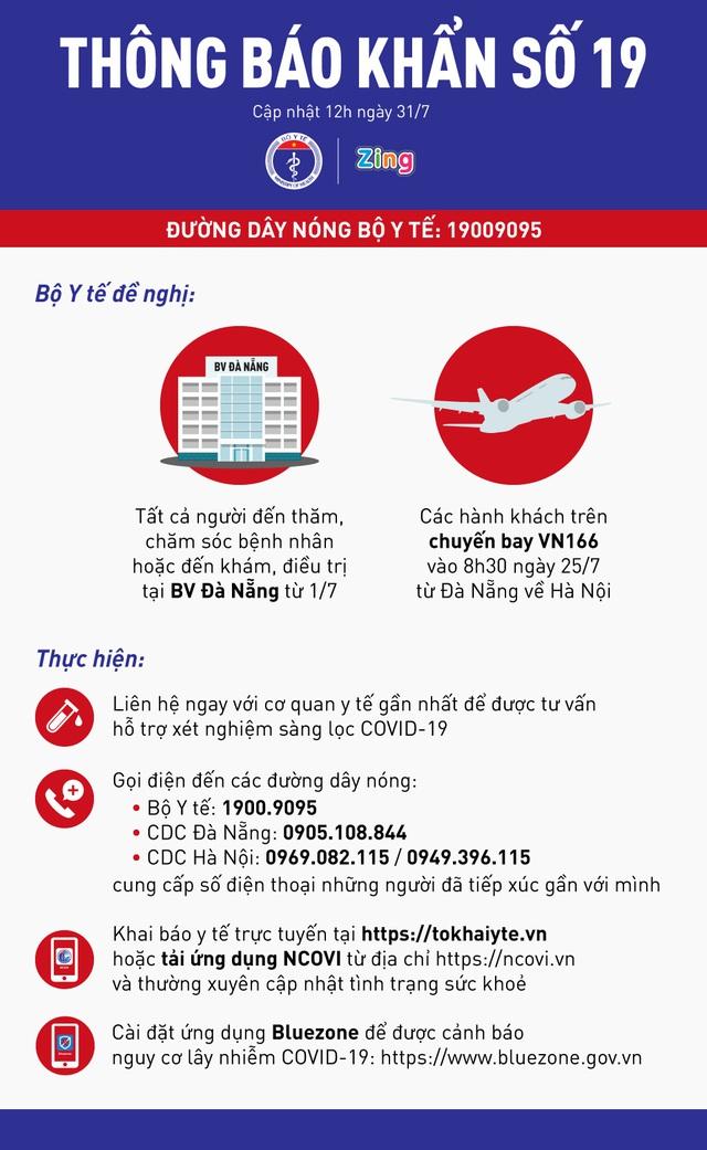 THÔNG BÁO KHẨN SỐ 19: Bộ Y tế tìm người trên chuyến bay Đà Nẵng - Hà Nội sáng 25/7 - Ảnh 2.