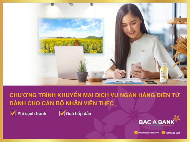 Sử dụng ngân hàng điện từ, cán bộ nhân viên thfc nhận ưu đãi lớn từ Bac A Bank - Ảnh 1.