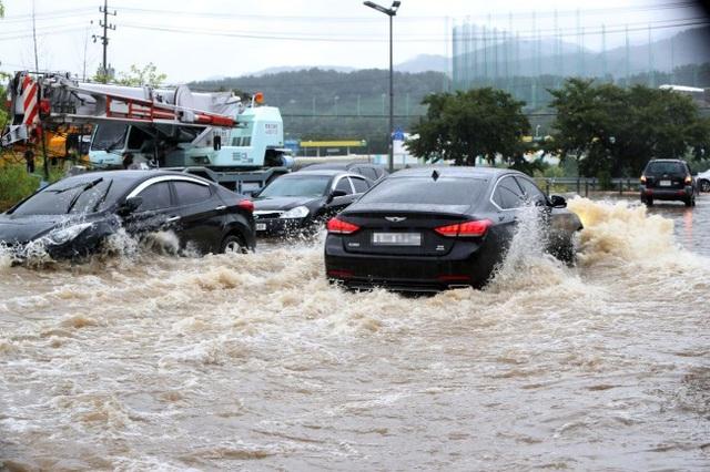 Hàng trăm ngôi nhà, ôtô ở Hàn Quốc ngụp lặn trong nước - Ảnh 5.