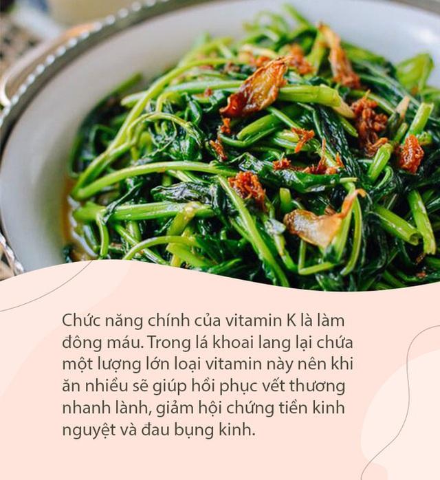 """Đây là loại rau giàu vitamin gấp 10 lần củ khoai lang, có tác dụng phòng bệnh ung thư và cực tốt cho ngày """"đèn đỏ - Ảnh 2."""