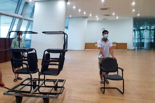 Mục sở thị cung thể thao gần 100.000m2 biến thành bệnh viện dã chiến ở Đà Nẵng - Ảnh 8.