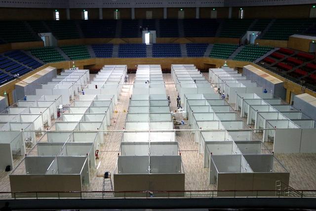 Hình ảnh bệnh viện dã chiến tại Đà Nẵng cơ bản hoàn thành sau 72h thi công thần tốc - Ảnh 3.