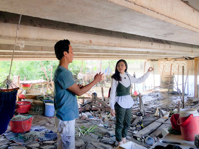 وان ترانگ هنگامی که شاهد خانواده ای فقیر بود که به طور موقت در زیر پل زندگی می کنند - گریه می کند - عکس 4.