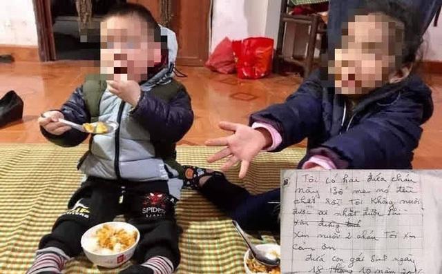 Diễn biến gây bất ngờ vụ 2 cháu bé bị bỏ rơi kèm lá thư nói bố mẹ đã chết - Ảnh 2.