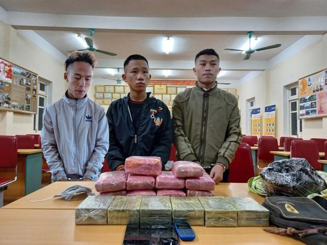 Nge An: 3 نفر دستگیر شدند که 12 کیک هروئین حمل می کردند - عکس 1.