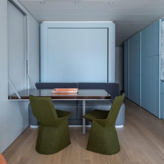 آپارتمان 17 مترمربعی با طراحی عالی هم راحت و هم کاربردی است - عکس 7.