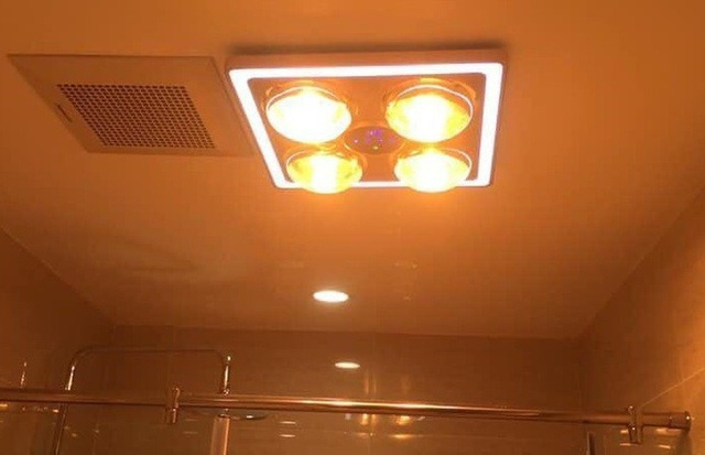 Lưu ý vàng khi dùng đèn sưởi nhà tắm mùa đông - Ảnh 1.