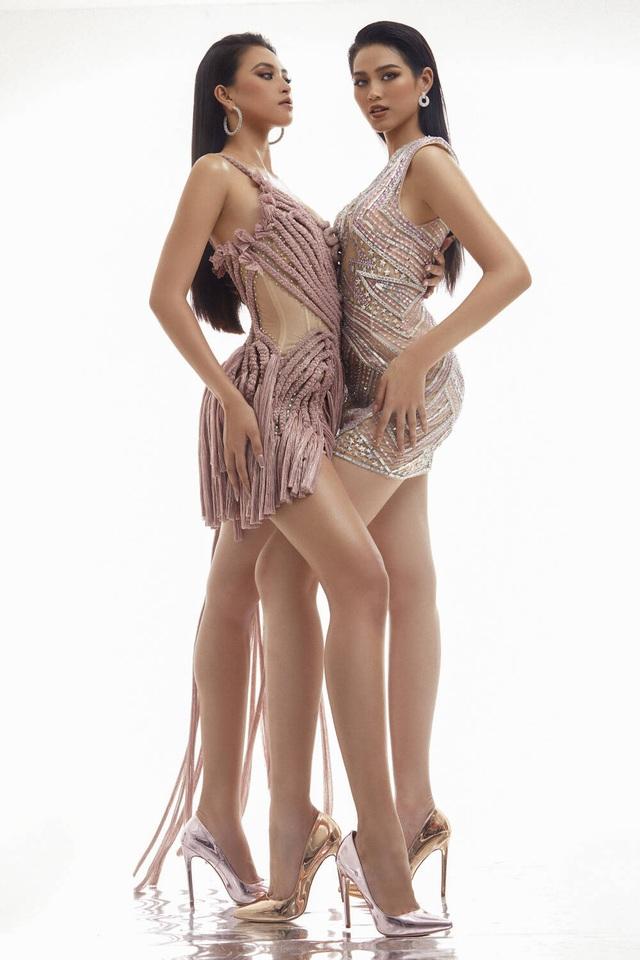 Hai nhan sắc đỉnh cao của Hoa hậu Việt Nam đọ sắc trong thiết kế xuyên thấu - Ảnh 3.