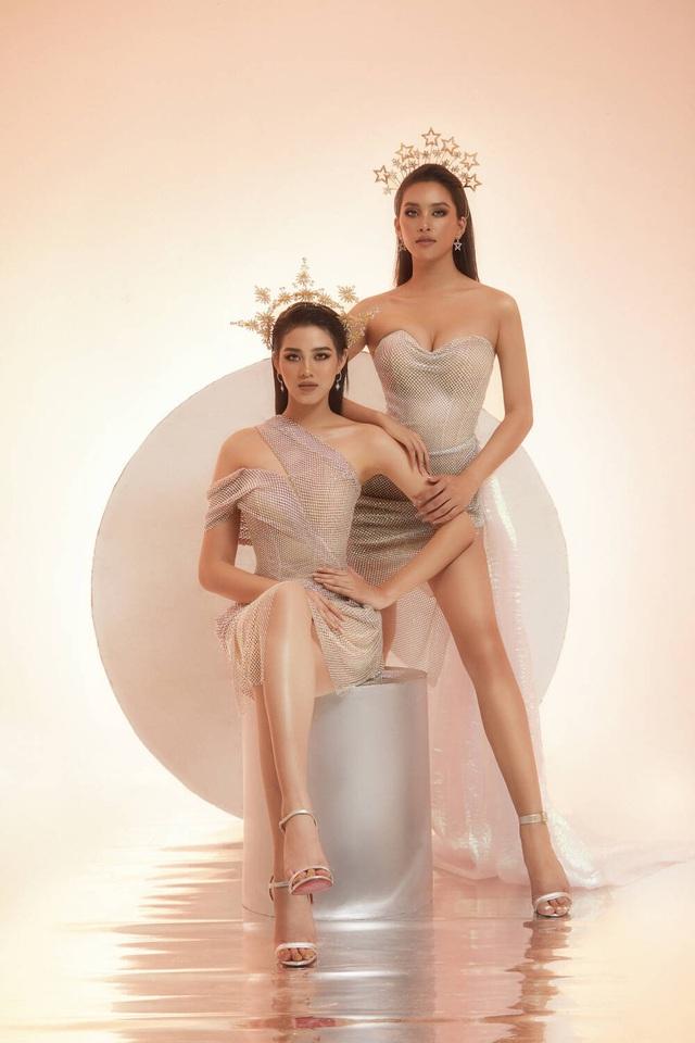 Hai nhan sắc đỉnh cao của Hoa hậu Việt Nam đọ sắc trong thiết kế xuyên thấu - Ảnh 2.
