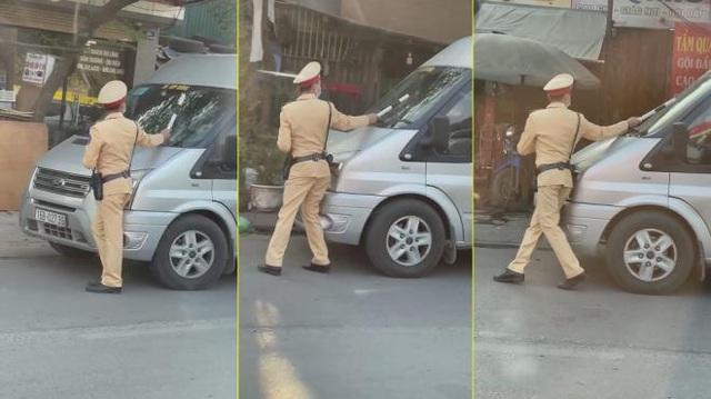 تحریم رانندگان با 16 مکان برای فشار دادن گاز برای هل دادن پلیس راهنمایی و رانندگی به سمت نگوین کوای - عکس 1.