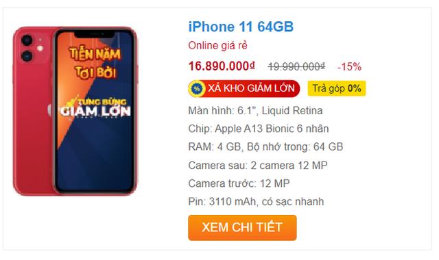 iPhone 11 xả kho, giảm giá sốc 5 triệu đồng trong ngày đầu năm - Ảnh 3.