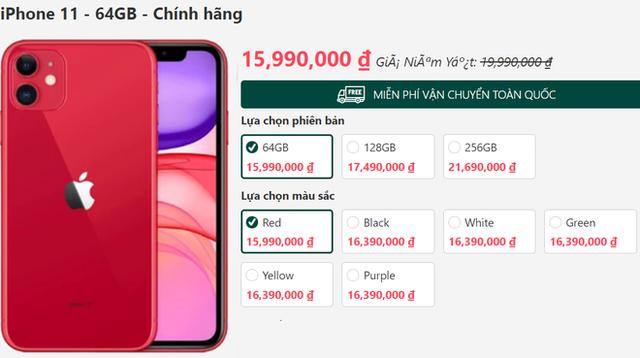 iPhone 11 xả kho, giảm giá sốc 5 triệu đồng trong ngày đầu năm - Ảnh 4.