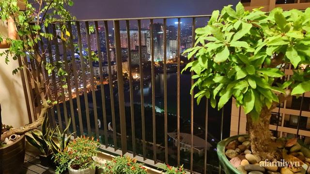Khu vườn nhỏ thư giãn, tĩnh lặng trên ban công với view hồ lãng mạn của gia đình giám đốc trẻ ở Hà Nội - Ảnh 1.