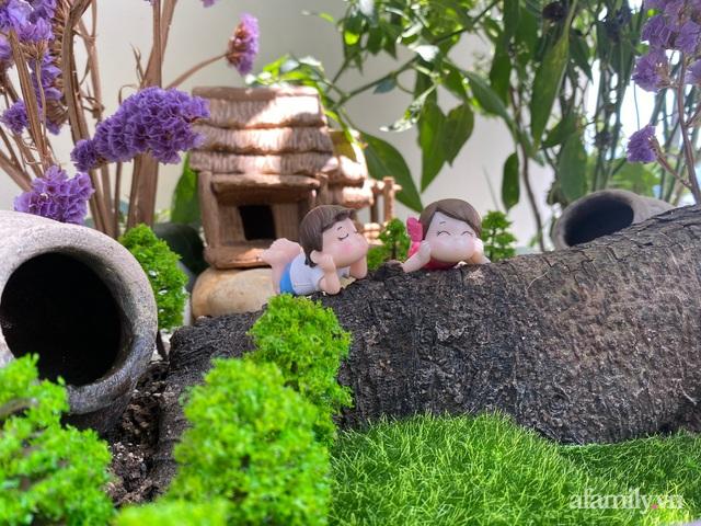 Khu vườn nhỏ thư giãn, tĩnh lặng trên ban công với view hồ lãng mạn của gia đình giám đốc trẻ ở Hà Nội - Ảnh 13.