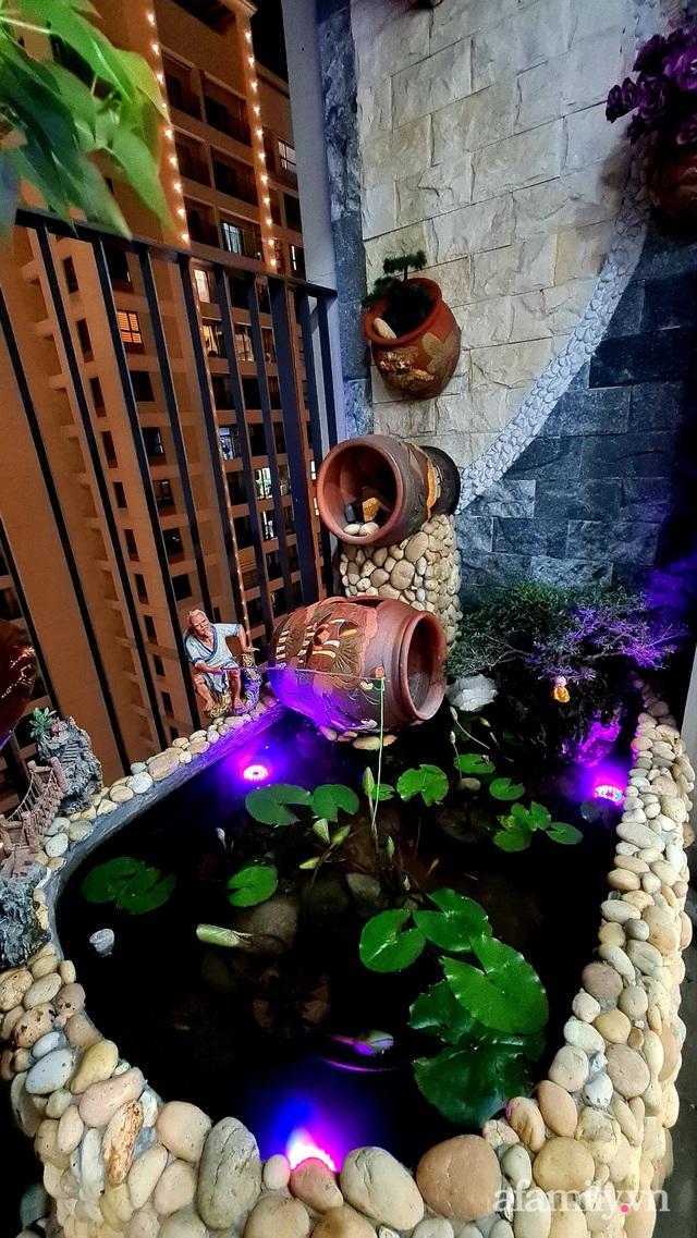 Khu vườn nhỏ thư giãn, tĩnh lặng trên ban công với view hồ lãng mạn của gia đình giám đốc trẻ ở Hà Nội - Ảnh 20.