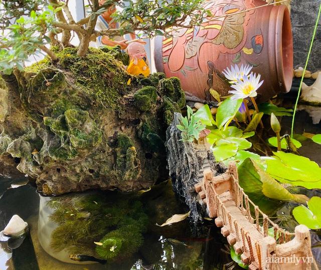 Khu vườn nhỏ thư giãn, tĩnh lặng trên ban công với view hồ lãng mạn của gia đình giám đốc trẻ ở Hà Nội - Ảnh 21.