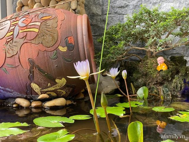 Khu vườn nhỏ thư giãn, tĩnh lặng trên ban công với view hồ lãng mạn của gia đình giám đốc trẻ ở Hà Nội - Ảnh 22.