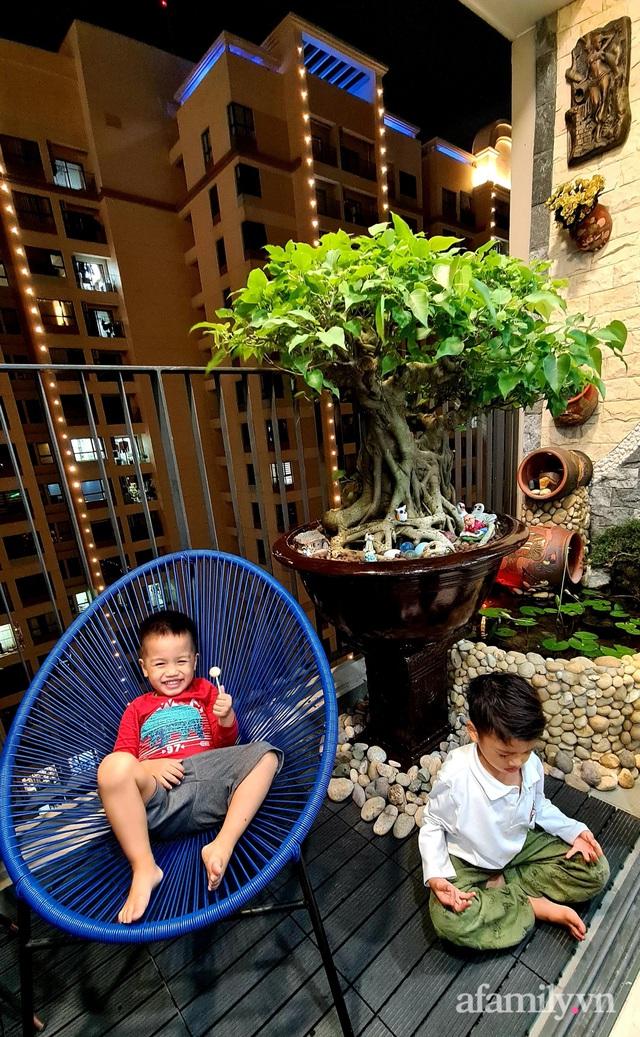 Khu vườn nhỏ thư giãn, tĩnh lặng trên ban công với view hồ lãng mạn của gia đình giám đốc trẻ ở Hà Nội - Ảnh 4.