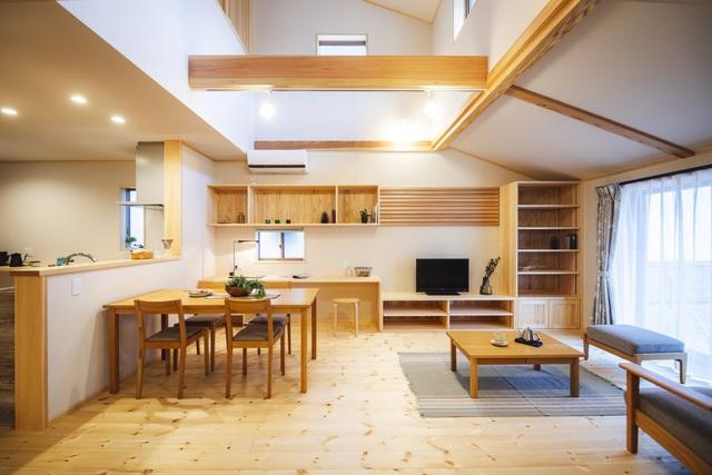خانه چوبی ساخته شده در معماری ژاپن با 1 طبقه همکف و 1 میزانسن برای یک خانواده جوان - عکس 5.