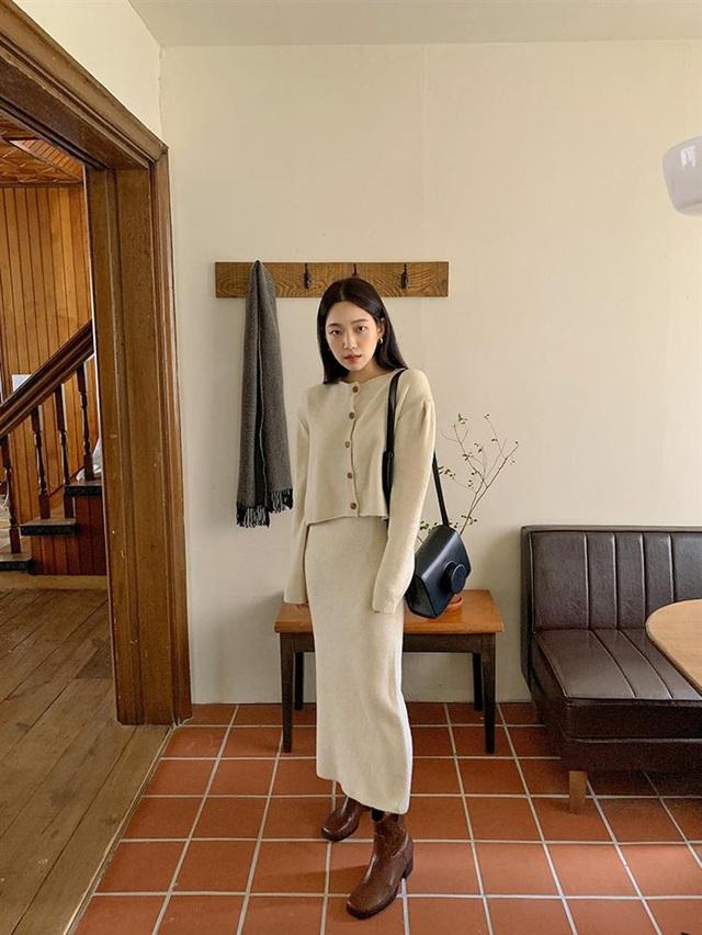 5 kiểu chân váy gái Hàn thường diện với áo len, nàng công sở nên hóng ngay để không bao giờ lo mặc xấu - Ảnh 12.