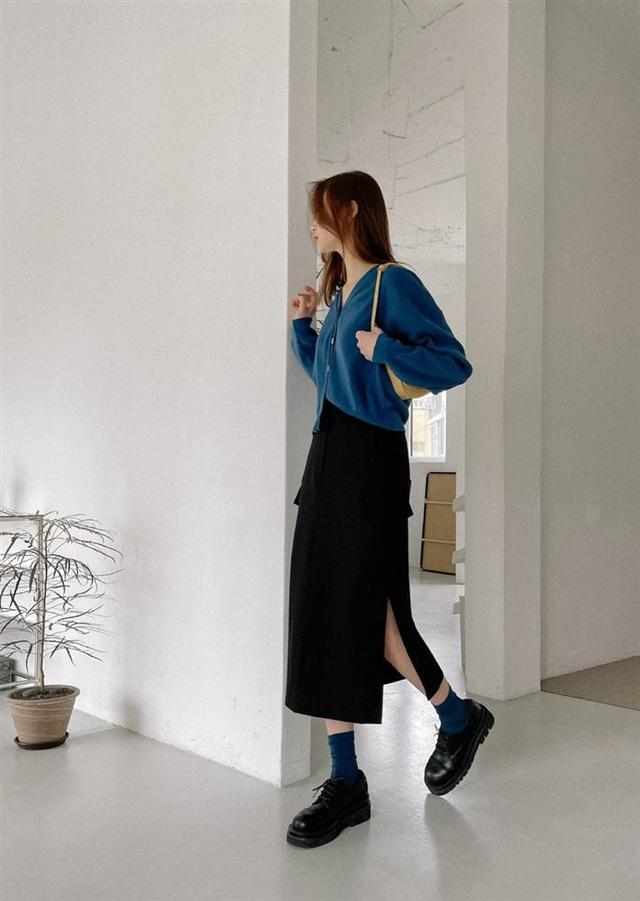 5 kiểu chân váy gái Hàn thường diện với áo len, nàng công sở nên hóng ngay để không bao giờ lo mặc xấu - Ảnh 7.