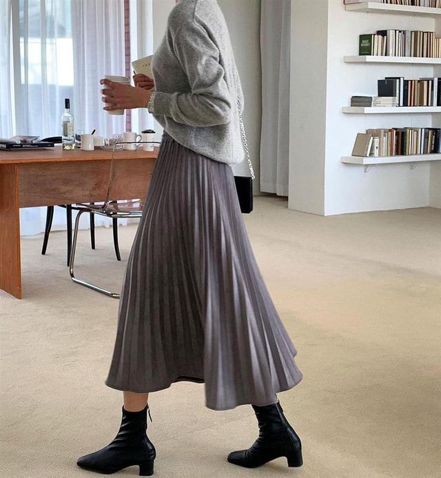 5 kiểu chân váy gái Hàn thường diện với áo len, nàng công sở nên hóng ngay để không bao giờ lo mặc xấu - Ảnh 9.