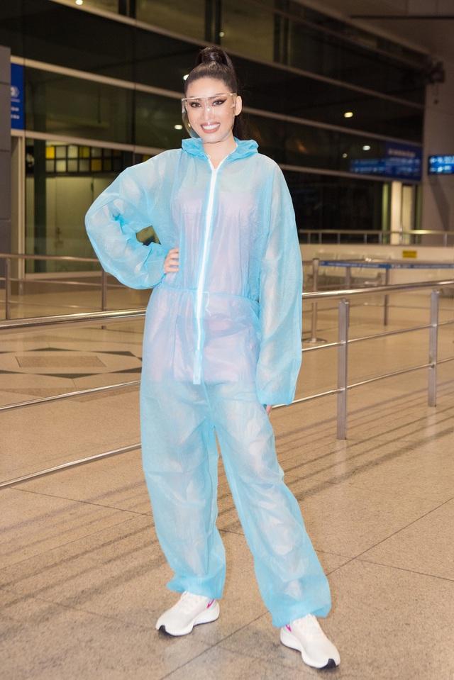 Ngọc Thảo mặc đồ bảo hộ, đeo sash Việt Nam lên đường chinh phục Miss Grand International 2020 - Ảnh 5.